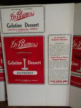 4 Dr Blumers Advertising Gelatine Jello Food Boxes 1920s Unused