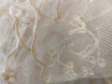 Victorian Tambour Lace Bonnet Hat Veil Hand Made On Tulle