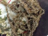 Vintage Christmas Gold Metallic Tinsel Garland Roping 1920s 1940s