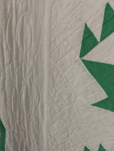 Depression Quilt Green White Basket Hand Stitched Quilted
