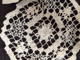 7 Doilies Darn Net Lacis Art Deco Table Linens Doily