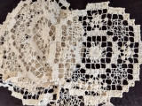7 Doilies Darn Net Lacis Art Deco Table Linens Doily