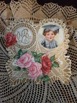 Vintage 1920s Valentine Paper With Love Vintage Greeting Card