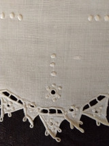 4 Italian Cutwork Doily Table Mats Linen Fabric 1900s