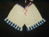 Vintage 1940 to 1950 Crochet Pants Hot Pad Pan Pot Holder