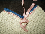 Vintage 1940 to 1950 Crochet Pants Hot Pad Pan Pot Holder
