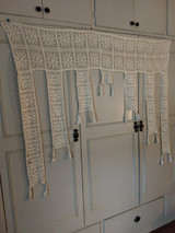 Early 1900 Portiere Door  Window Crochet Fringe Window Treatment