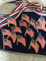 15 American Flag Paper Card 1940 Vintage Table Place Card
