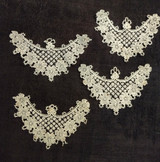 Four Lace Applique Antique Dress Trim Embellishments Sewing Costuming