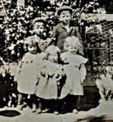 Victorian Edwardian Children Photo Grandmother Cabinet Card Photograph