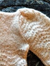 Edwardian 1920 Baby Sweater Child Pink Wool Knit Fashion