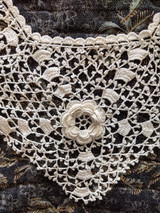 Vintage Irish Crochet Collar Hand Made Lace Dress Costuming