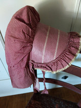 Antique Calico Dot Prairie Sunbonnet Farmhouse Country Primitive