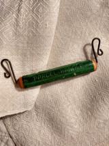 Victorian Parcel Handle Carrier Advertising Clothier Wooden Wire Antique 1885