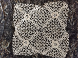 Vintage Irish Crochet Square Doily Mat Sewing Craft Quilting