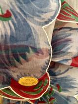 Vintage Switzerland Floral Handkerchief Morning Glory Hankie