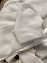 Vintage White Crepe Chiffon Fabric 1950 Sewing Yardage