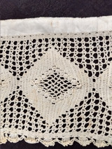 Victorian 1880 1890 Crochet Filet Trim Edging Finished Sewing Crafts