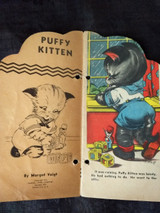 1940 Muffy Fluffy Puffy Cat Storybooks Margot Voigt Illustrated Dressed Kittens