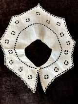 Victorian Baby Dress Collar Bib Broderie Anglaise Embroidery
