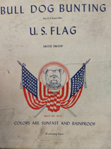 Vintage 1940 Bull Dog Bunting US Flag Box Only Patriotic Advertising