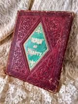 Victorian 1860's  Autograph Book Album Of Beauty Engravings Ephemera