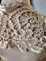 Edwardian Tape Lace Collar Battenburg Renaissance Dress Costume