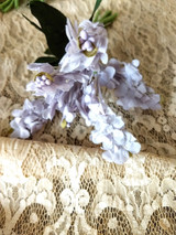 1940s 1950s Lilac Artificial Flower Fabric Millinery Dress Bouquet