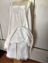 Antique French Cami Kickers Chemise Bloomer 1920s White Cotton Lace Monogram Underwear