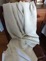 Antique Natural Linen Homespun Bed Sheet Hand Loom Center Seam Americana