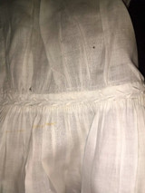Victorian 1850s Child Dress Fine Whitework Embroidery Cap Sleeve