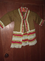 Victorian Child Wool Sweater 1880s Hand Made From New England