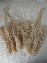 Antique Hand Tatted Lace Camisole Corset Cover Edwardian 1920 Unworn