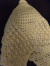 1920s Child Wool Bonnet Vintage Baby Hand Knit  Off White