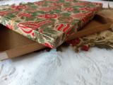 Vintage Christmas Paper Cardboard Gift Box Ornaments 1940