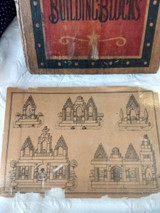 Columbia Toy Building Blocks Antique Children Architectural Wooden Set