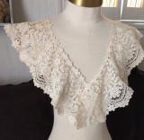Victorian Edwardian Duchesse Tape Lace Dress Collar Dress Embellishment