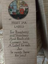 1930s Rust Craft Boston Canning Fruit Jar Labels Original Box