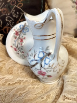 Antique China Childs Toy Wash Bowl Pitcher Soap Toothbrush 4 Piece Set