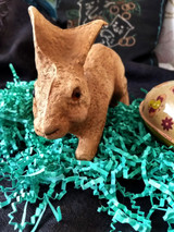 Antique Pulp Paper Mache Rabbit Candy Container Glass Eyes