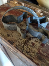 Old Primitive Tin Gingerbread Man Cookie Cutter Strap Handle