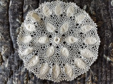Antique Irish Crochet Table Doily White Mat Vintage 1920s
