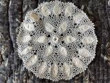 Antique Irish Crochet Table Doily White Mat Vintage 1920s