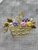 Society Silk Doily Embroidery Basket Fringe Edge Table Mat Linen