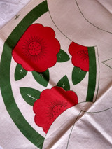 Antique Tinted Stencil Pattern  Pot Holders To Embroider