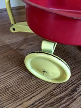 Child Vintage Toy Hy Speed Metal Wagon Red Yellow Color