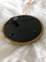 Antique Celluloid Belt Buckle Round Shape Vintage Edwardian 1920