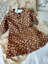 Victorian 1880's Chintz Child Dress Flower Fabric 19th Century