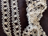 Vintage Tatting Tatted Lace Trim Handmade Dress Sewing Ribbon Embellishment