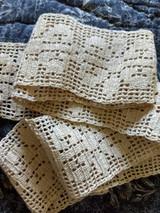 Hand Crochet Filet Lace Floral Flower Trim Vintage 1920 Sewing Crafts